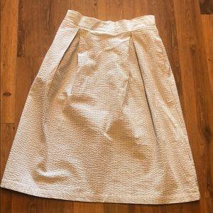 Anthro Jane and Delancey Seersucker skirt Sz Small